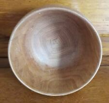 Turned wood bowl