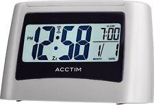 Attis Smartlite LCD Alarm Clock in Mist Colour by Acctim
