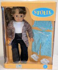 "18"" GOETZ STOLLE Posable Realistic Look Doll Brunette Hair AG Clothes Fit GOTZ"