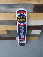 Vintage ULTRA CLEAN Metal Mail Pouch Tobacco Thermometer Sign