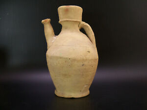 Ancient Holy Land Terracotta Clay Pottery Pitcher Ewer Funerary Vessel