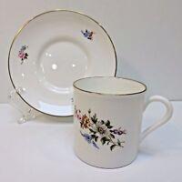 Demitasse Royal Worcester, England Bone China Teacup & Saucer for Danbury Mint