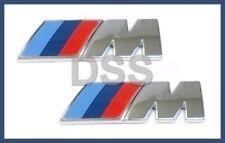 Genuine BMW M-Tech E84 E89 F22 F30 F32 F15 Fender Emblem Logo Badge Set (2) NEW