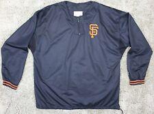 Rare VintageSTARTER SF San Francisco Giants Black Pullover Mens Large