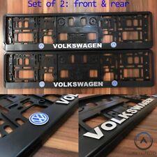 2x 3D VW Number Plate Surround Frame Holder Volkswagen Mk5 Mk6 Golf Arteon Gti
