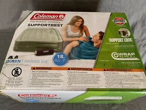 coleman support rest air mattress double high queen 18in