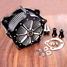 Deep Cut Venturi Air Cleaner Intake Filter System For Harley Softail 96-13