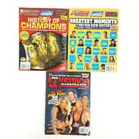 WWE Raw Smackdown Magazine Lot of 3 2007 Pro Wrestling Illustrated Champions