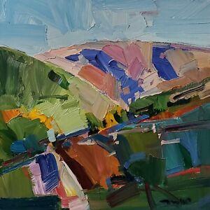 JOSE TRUJILLO Oil Painting IMPRESSIONISM CONTEMPORARY Landscape HILLS MODERN