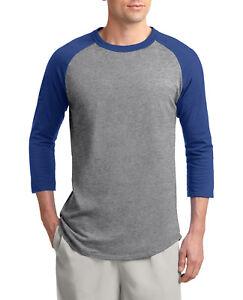 Mens 3/4 Sleeve Colorblock Raglan Baseball Jersey T-Shirt XS-XL 2X 3X 4X 5X 6X