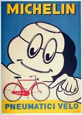 MICHELIN BICYCLE POSTER BIBENDUM 1959 ORIGINAL ITALIAN POSTER RARE