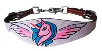Showman PONY Leather Wither Strap w/ PINK Unicorn/Wing Design!! NEW HORSE TACK!!