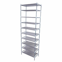 10 Tier 30Pairs Shoe Rack Tower Home Cabinet Organizer Storage Shelf Stackable