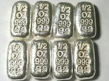 8  1/2  Troy Ounce Hand Poured  Silver Bars Ingots Monarch Precious Metals