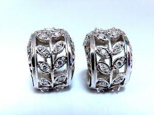 .52ct Diamonds Gilt Wide Huggie Hoop Earrings 14kt gold