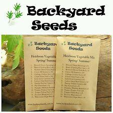 HEIRLOOM Vegetable Seeds Spring/ Summer, 15 Individual Packs
