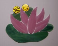 Handcrafted Silly Hiding Frog - Water Lily Precut Mosaic Stained Glass Set #947