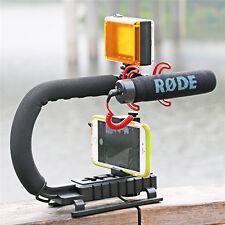 U Shape Video Handle Steadicam Stabilizer Grip for DSLR Camera Camcorder Phone
