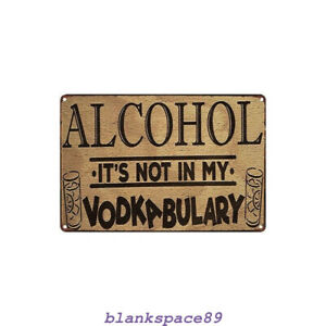 Metal Tin Sign alcohol vodka bulary  Decor Bar Pub Home Vintage Retro Poster