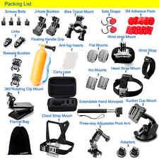 Zookki Accessories Bundle Kit for GoPro Hero 5 4 3+ 3 2 1 Black Silver and SJ400