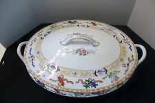 NORITAKE LAZARRE Oval COVERED Vegetable BOWL Vintage