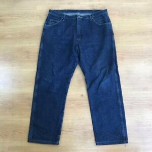 Wrangler Classic Straight Relaxed Fit Dark Blue Indigo Denim Jeans 40 x 32 Reg