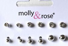 NEW Silver plated assorted plain crystal stud earrings fashion jewellery