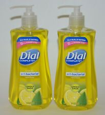 LOT OF 2 DIAL COMPLETE LEMON SAGE LIQUID SOAP WASH ANTI  BACTERIA 11 OZ PUMP
