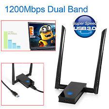 Adaptador Usb Inalámbrico 1200 Mbps 802.11ac doble banda 2.4/5GHz Dongle Wifi Red Reino Unido