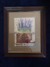 Home Interiors Homco Beautiful Lavendar and Apples Vintage Picture New in Box