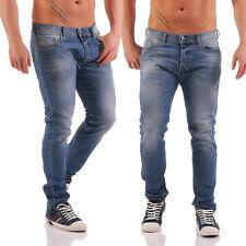Diesel Jeans TEPPHAR 0842H Herren Hose Slim Carrot mittelblau Röhrenjeans NEU
