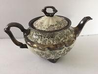 "CT Altwasser Carl Tielsch CTI196 Platinum Florals Scalloped - 6-1/2"" TEA POT"