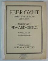 Musikinstrumente Peer Cynt Dramatische Dichtung Edvard Grieg Klavierauszug Grades Noten Rar B7625