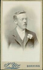 Young Man  flower in lapel   quiffy hair-style   CDV - S.Yeo,  Dorking    QY306