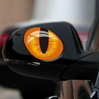 Car Accessories 3D Evil Cat Eyes Mirror Decoration Car Sticker Funny Look Window