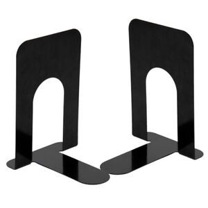 """4 Pairs 8"""" Duty Heavy Metal Bookends Supports  Book Ends Supplies Stationery"""