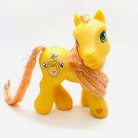 My Little Pony G3 Glitter Ponies Brushable Yellow / Gold Tinsel MLP Bumblesweet