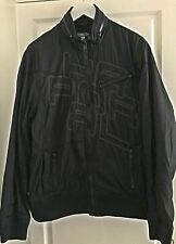 Blouson Noir Fermeture Zip marque en surpiqûre devant au dos KAPORAL Taille XL