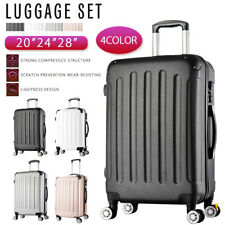 US! Luggage Set Lightweight Travel Suitcase Trolley Spinner Wheel w/TSA Lock