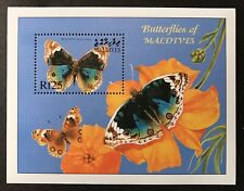 MALDIVES BUTTERFLY STAMPS S/S 2000 MNH BLUE PANSY BUTTERFLIES NATURE WILDLIFE