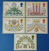 Set of 5 PHQ Stamp Postcards Set No.48 Christmas 1980 CE3