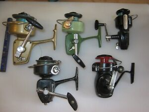 Lot Of 5 Vintage Assorted Fishing Spinning Reels IN GOOD WORKING CONDITION