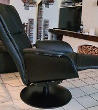 relax fauteuil-Spiksplinternieuwe Relax fauteuil  zwart echt leer - model Bergen