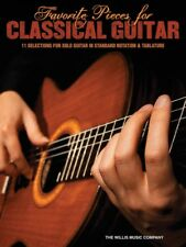 FAVORITE PIECES FOR CLASSICAL GUITAR TAB SHEET MUSIC SONG BOOK