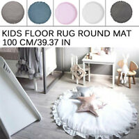 Baby Kids Floor Rug Round Cotton Game Gym Activity Play Mat Crawling  K