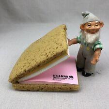 Hellmann's Mayonnaise Vintage Sandwich Shaped Notepad Paper Cholesterol Free