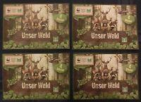 """NEU & OVP 4 Marktkauf Sammelsticker """"Unser Wald"""" Sticker WWF EDEKA"""