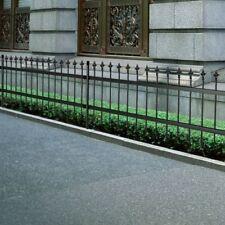 Ornamental Security Palisade Fence Steel Black Pointed Top 120cm Garden Backyard