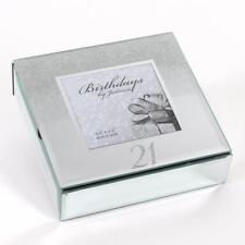 21st Birthday Gift Mirror and Glitter Design Trinket Box Boxed 14948