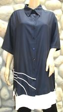 NWT Women's Gottex Swimsuit Cover/Tunic/Dress Navy Blue Size Talle Large